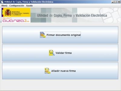 eCoFirma: Utilidad de copia, firma y validación electrónica