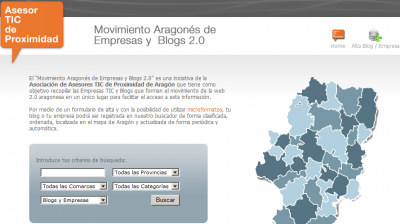 Movimiento aragonés de empresas y blogs